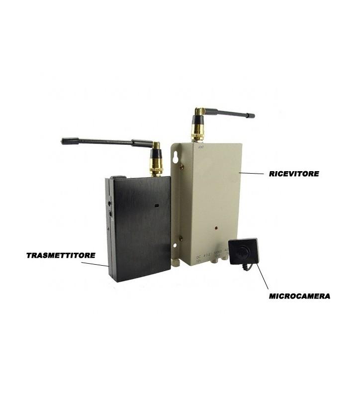 Minitelecamera senza fili a colori con trasmettitore e ricevitore portatile