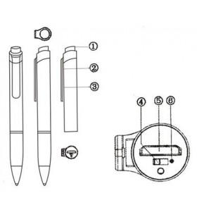 Micro Registratore Audio nascosto in una penna che scrive