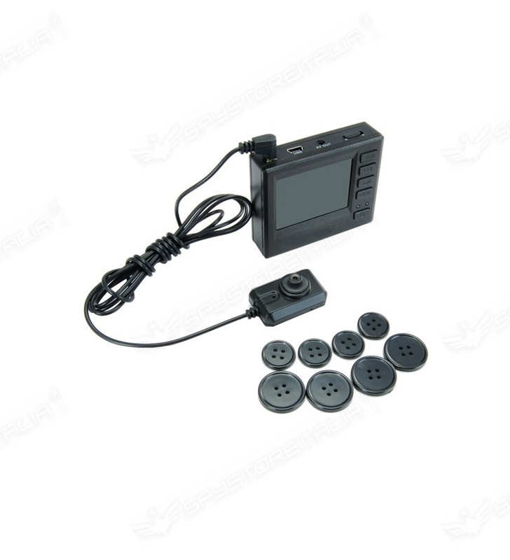 Microcamera bottone + Microregistratore LCD