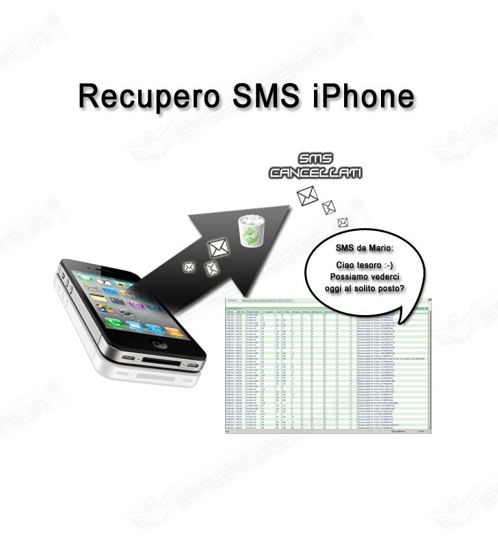 Recupero sms cancellati Apple Iphone